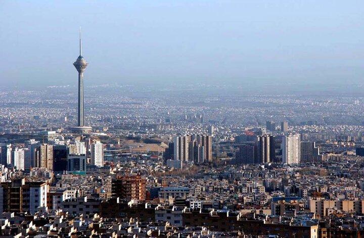 شاخص کیفیت هوای تهران امروز 3 اسفند