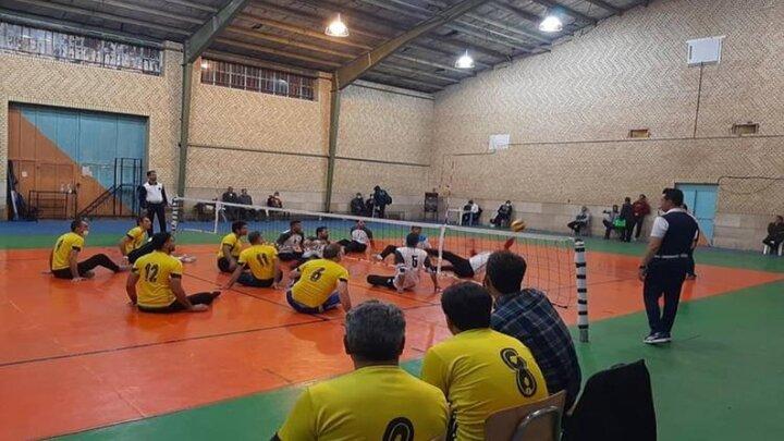 اتمام مسابقات دسته یک والیبال نشسته کشور در مرودشت