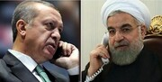 ابراز امیدواری اردوغان برای لغو تحریمهای آمریکا علیه ایران در گفتگو با روحانی