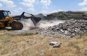 تخریب ۱۰۰ فقره ساخت و سازهای غیرمجاز در پیشوا