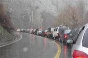 ترافیک سنگین در آزاد راه قزوین - کرج