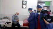 بازدید فلاح از سالمندان آسایشگاه کهریزک