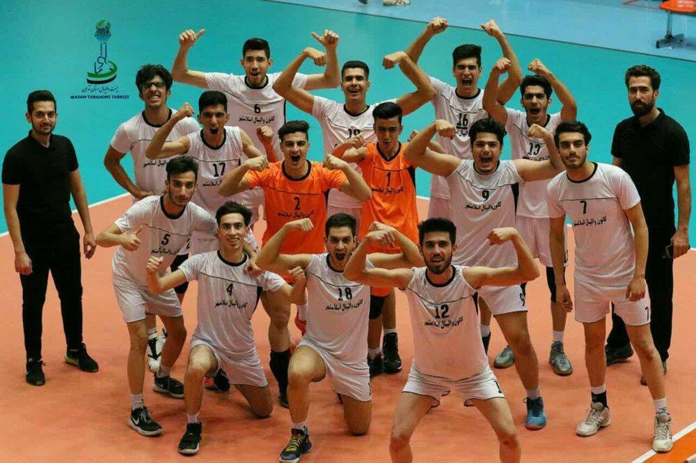 نوجوانان والیبالیست اسلامشهر نایب قهرمان استان تهران