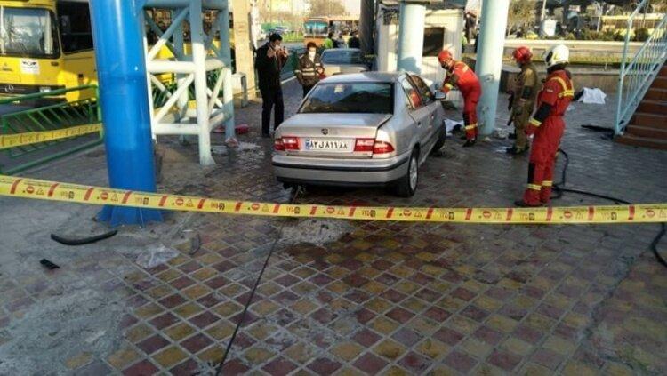 تصادف خونین در خیابان خاوران تهران