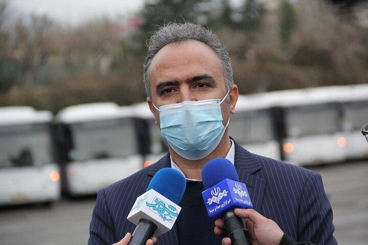 ۲۰ هزار ماسک میان رانندگان شرکت واحد اتوبوسرانی تهران توزیع شد