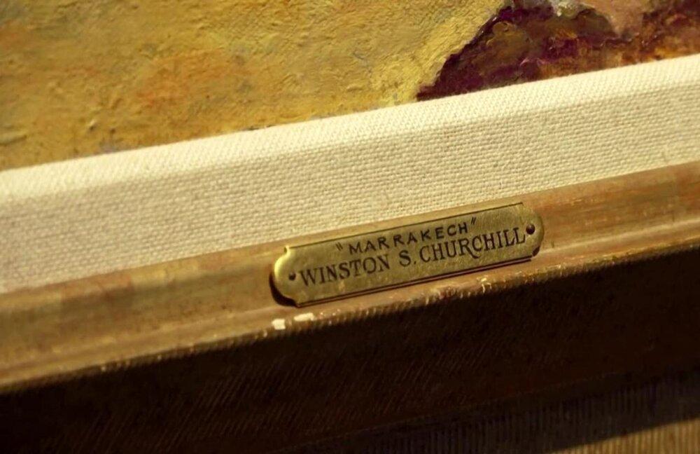 آنجلینا جولی نقاشی چرچیل را حراج کرد