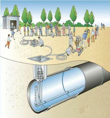 نصب مخازن آب شرب اضطراری در مرکز پایتخت