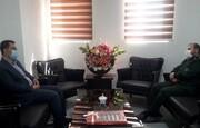 دیدار سرپرست اداره ورزش قرچک با فرماندار سپاه ۱۵ خرداد