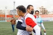 مصاف جذاب عادل فردوسی پور و علی کریمی /عکس
