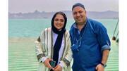 نرگس محمدی و همسر در جزیره هرمز