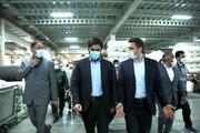 بازدید رییس سازمان اصناف از کارخانه جهان اروم ایاز