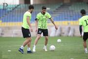 مدافع کرونایی پرسپولیس به تمرین اختصاصی پرداخت