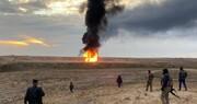 انفجار ۲ چاه نفت  توسط افراد وابسته به داعش در کرکوک