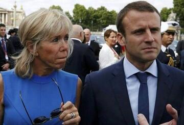 لباس همسر رییس جمهور فرانسه با طرح ایرانی + عکس