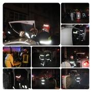حبس شدن راننده در پی واژگونی خودرو در رشت