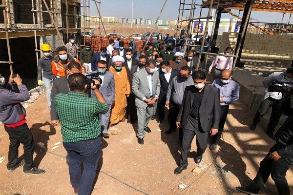 بازدید وزیر راه و شهرسازی از روند اجرای پروژه های طرح اقدام ملی مسکن