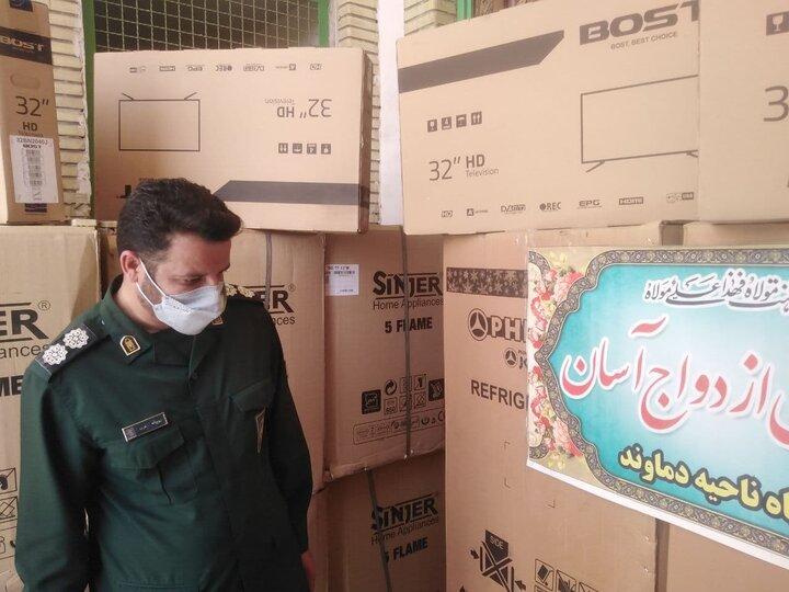 اهدای ۶ سری جهیزیه به جوانان مهرآباد رودهن
