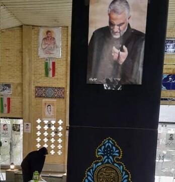 گلباران و عطرافشانی گلزار شهدای فیروزکوه