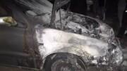 آتش سوزی خودرو سواری + فیلم