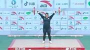 اولین دختر فوق سنگین وزنه بردار ایرانی
