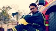 آتش نشان تبریزی به کما رفت + عکس