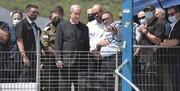 پرتاب بطری به سمت نتانیاهو