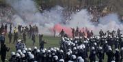 اعتراض مردم بلژیک به محدودیتهای کرونایی