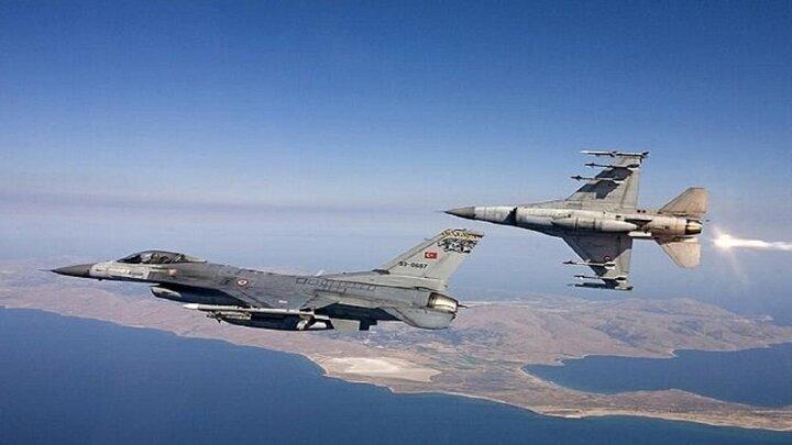 بمباران اربیل توسط جنگنده های ترکیه