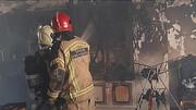 آتش سوزی در محله فلاح تهران