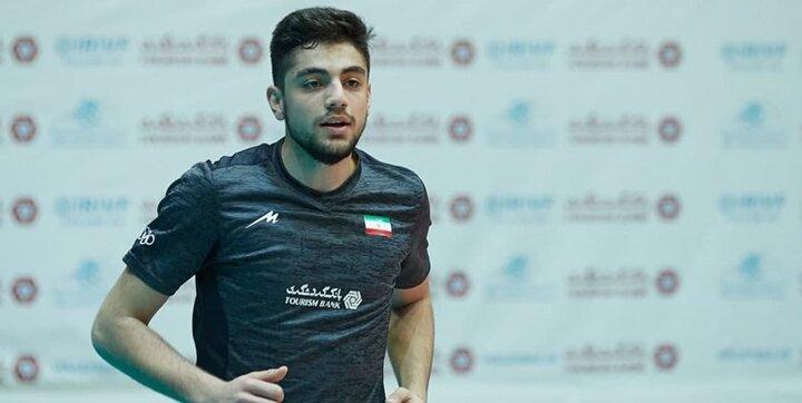 """حرکت """"بردیا سعادت"""" والیبالیست ایرانی در مسیر پیشرفت"""