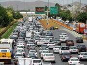 ترافیک سنگین در آزادراه کرج – تهران