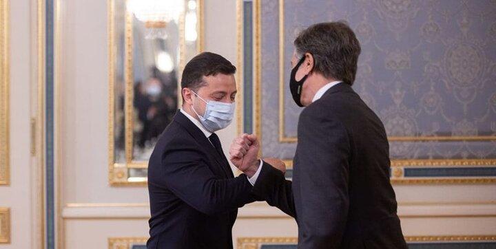 دیدار وزیر امور خارجه آمریکا با رئیس جمهور اوکراین