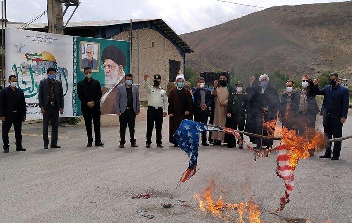 راهپیمایی خودجوش روز جهانی قدس در فیروزکوه
