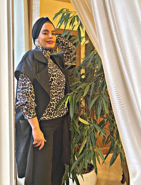 لباس پلنگی سپیده خداوردی + عکس