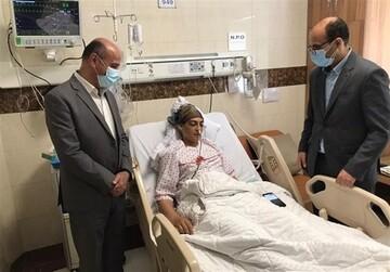 رئیس فدراسیون ووشو از شهربانو منصوریان عیادت کرد