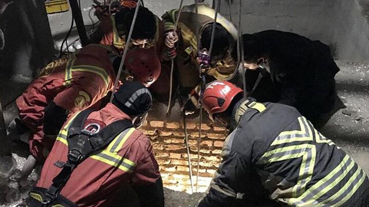 چاه کن کاشانی از گرفتاری در عمق چاه نجات یافت