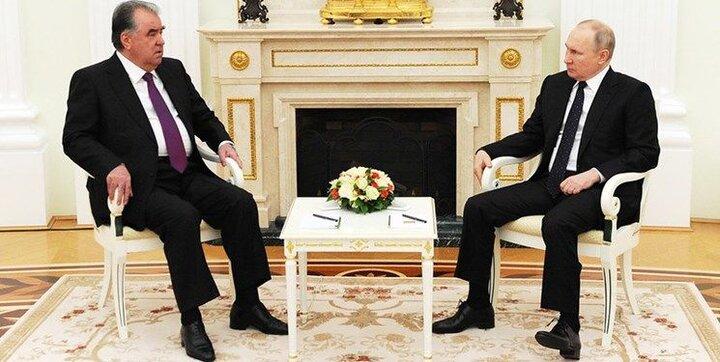 دیدار پوتین با همتای تاجیکی خود