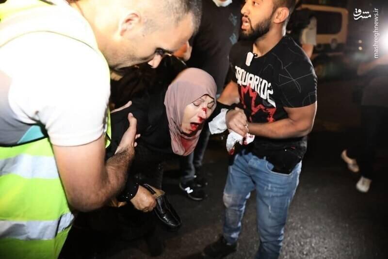 برخورد وحشیانه صهیونیست ها با زنان فلسطینی+ تصاویر
