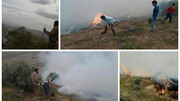 مهار آتش سوزی بزرگ در مراتع سده