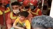 نجات متین کوچولوی زنده به گور شده  + فیلم و عکس