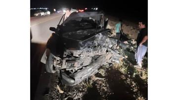 تصادف وحشتناک در جاده فسا + جزئیات
