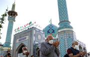 اقامه نماز عید فطر در امامزاده صالح (ع) /گزارش تصویری
