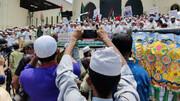 راهپیمایی مسلمانان بنگلادش بعداز نماز عید فطر