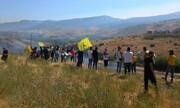 ورود مردم لبنان به خاک فلسطین