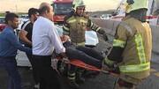 حادثه رانندگی در اتوبان قم _ تهران جان سرنشین را تهدید کرد
