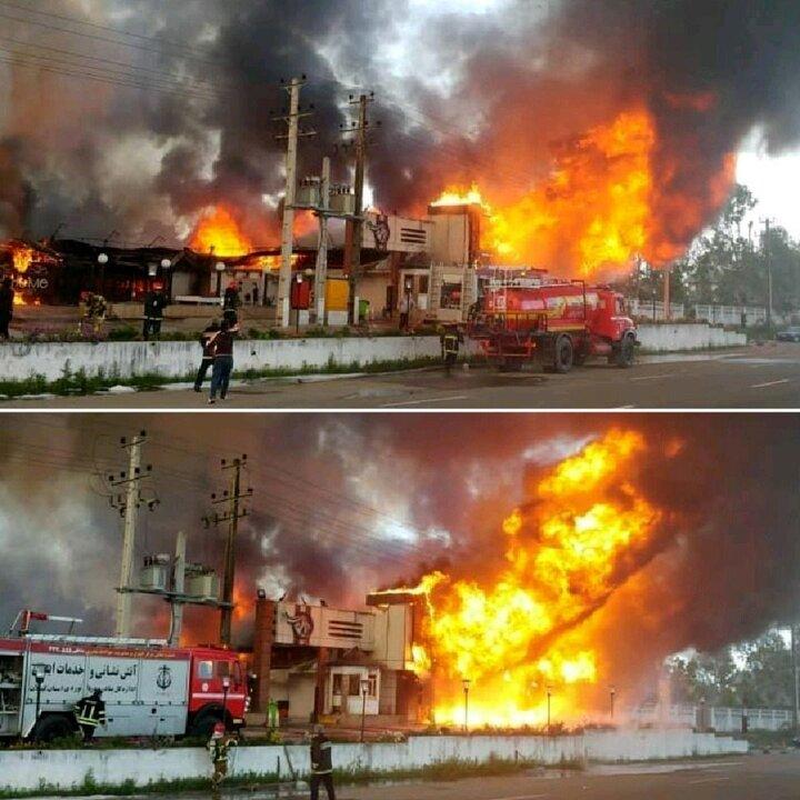خاطره انزلی در آتش سوخت + فیلم و عکس