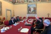 دیدار ظریف با نخست وزیر و وزیر امور خارجه واتیکان