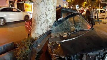 برخورد مرگبار خودرو با درخت + جزئیات