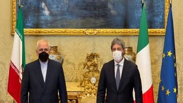 دیدار ظریف با رئیس مجلس نمایندگان ایتالیا