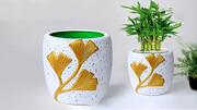 ساخت گلدان با روش های ساده + فیلم